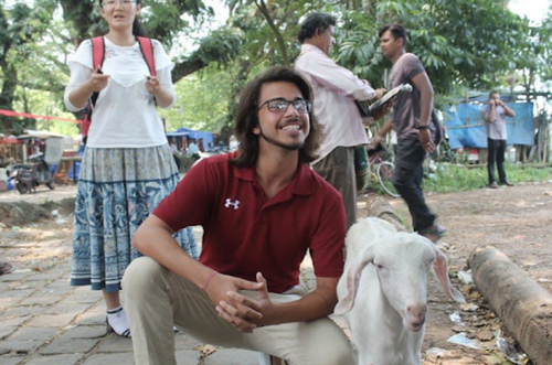 Charlie Cheema Student Story Red Shirt Goat